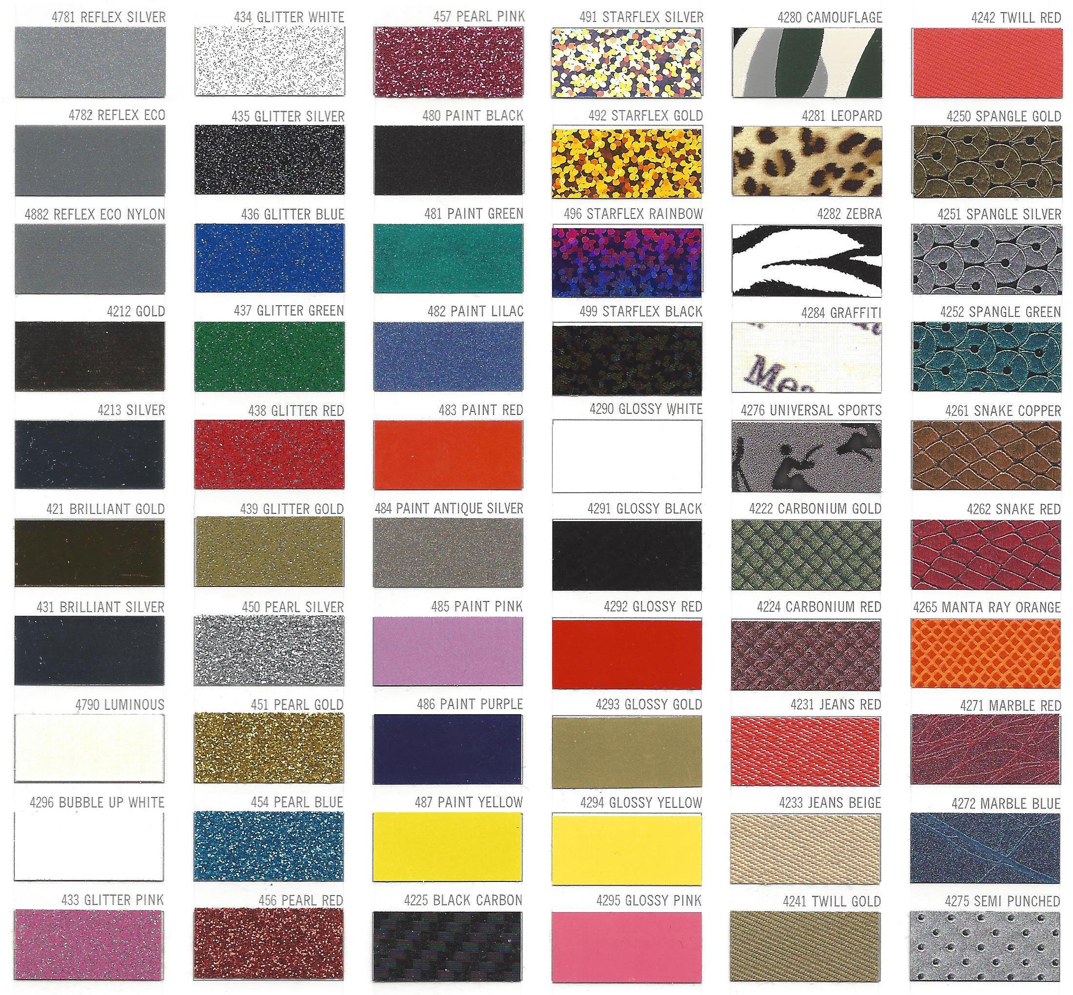 Kleuren kaart Specials